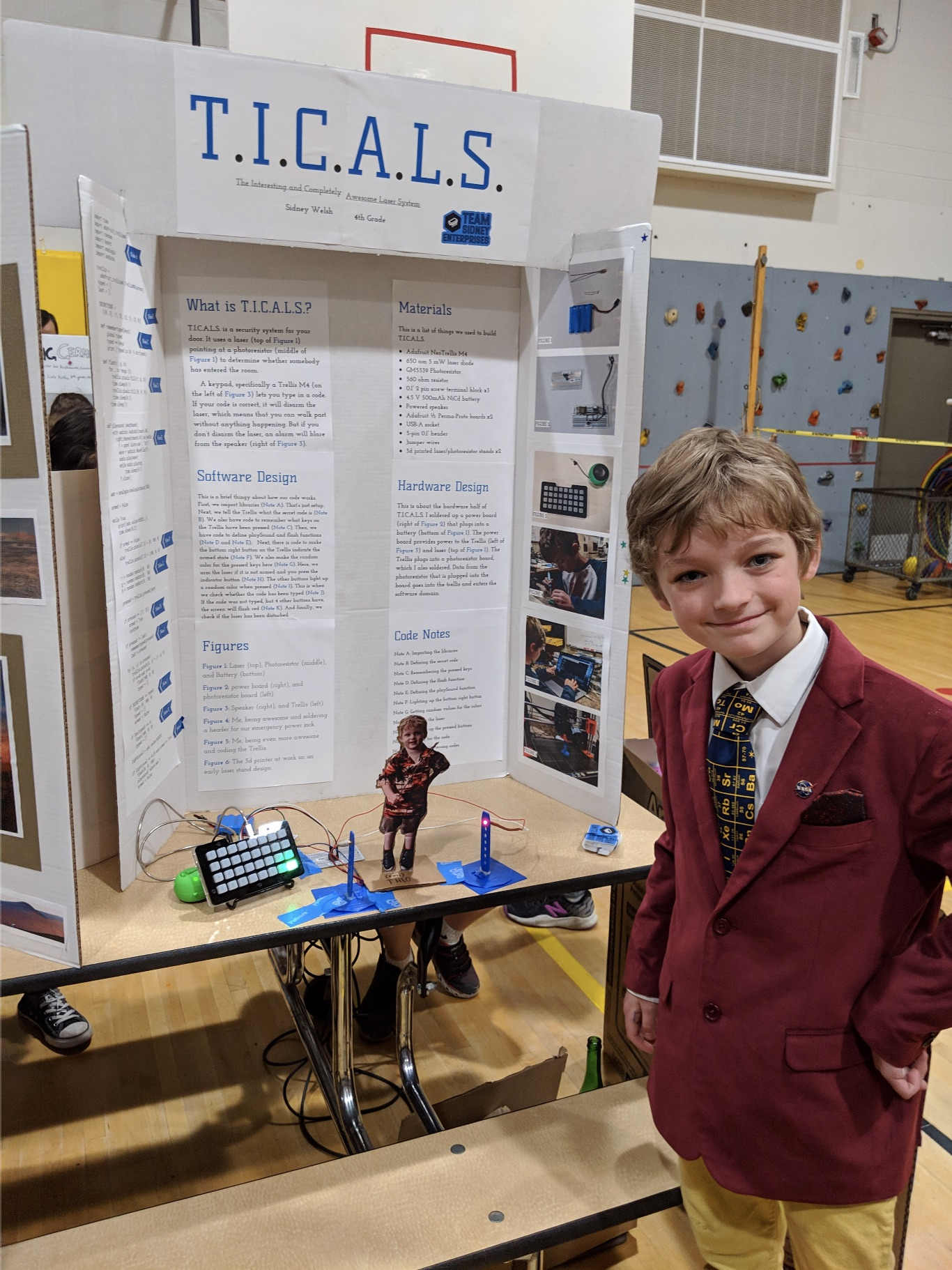 Sidney at the science fair